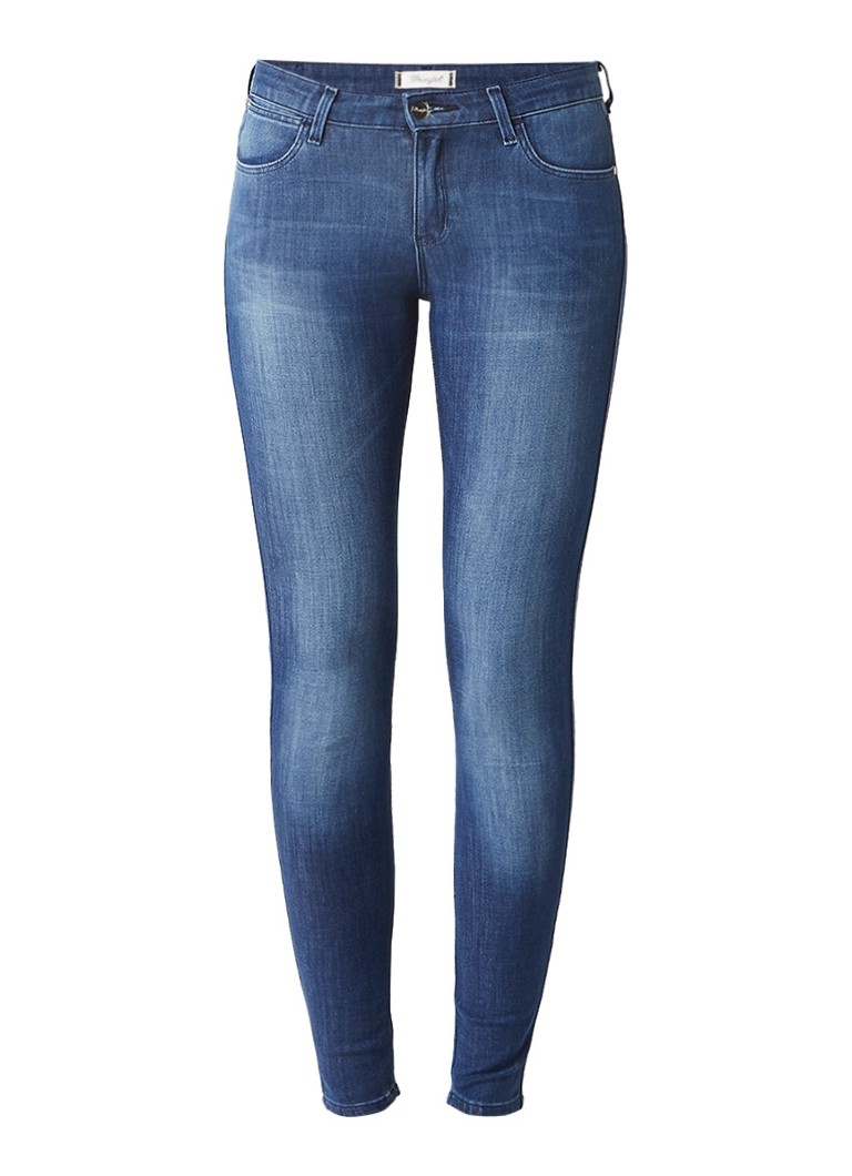 Wrangler Body Bespoke low rise super skinny jeans met faded look