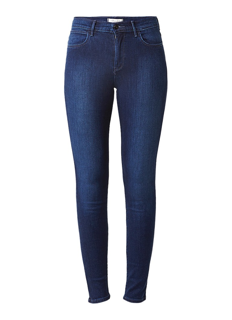 Wrangler Body Bespoke high rise skinny jeans met faded look