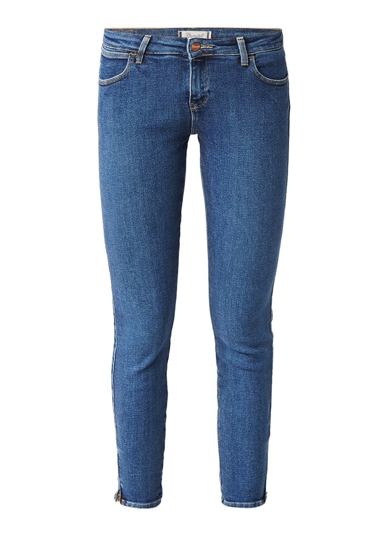 Wrangler Body Bespoke skinny cropped jeans met ritsen