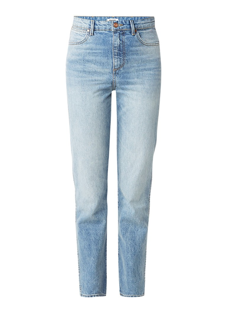 Wrangler Retro mid waist slim fit jeans met lichte wassing