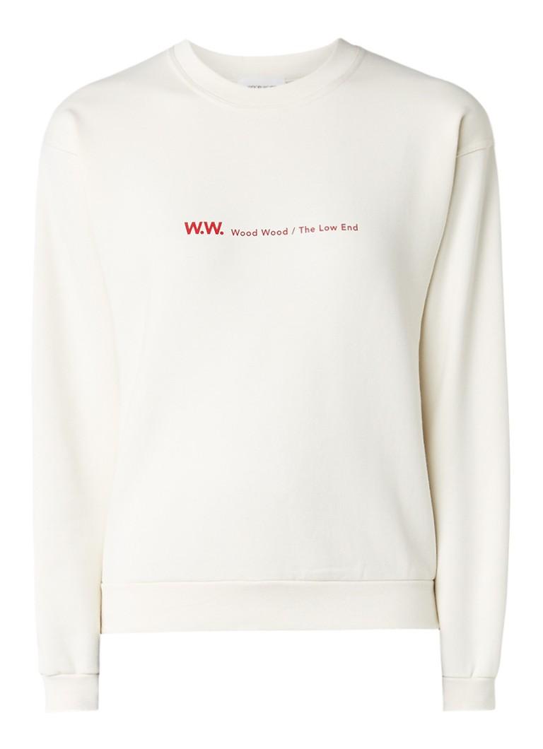 Wood Wood Tara sweater met logoprint