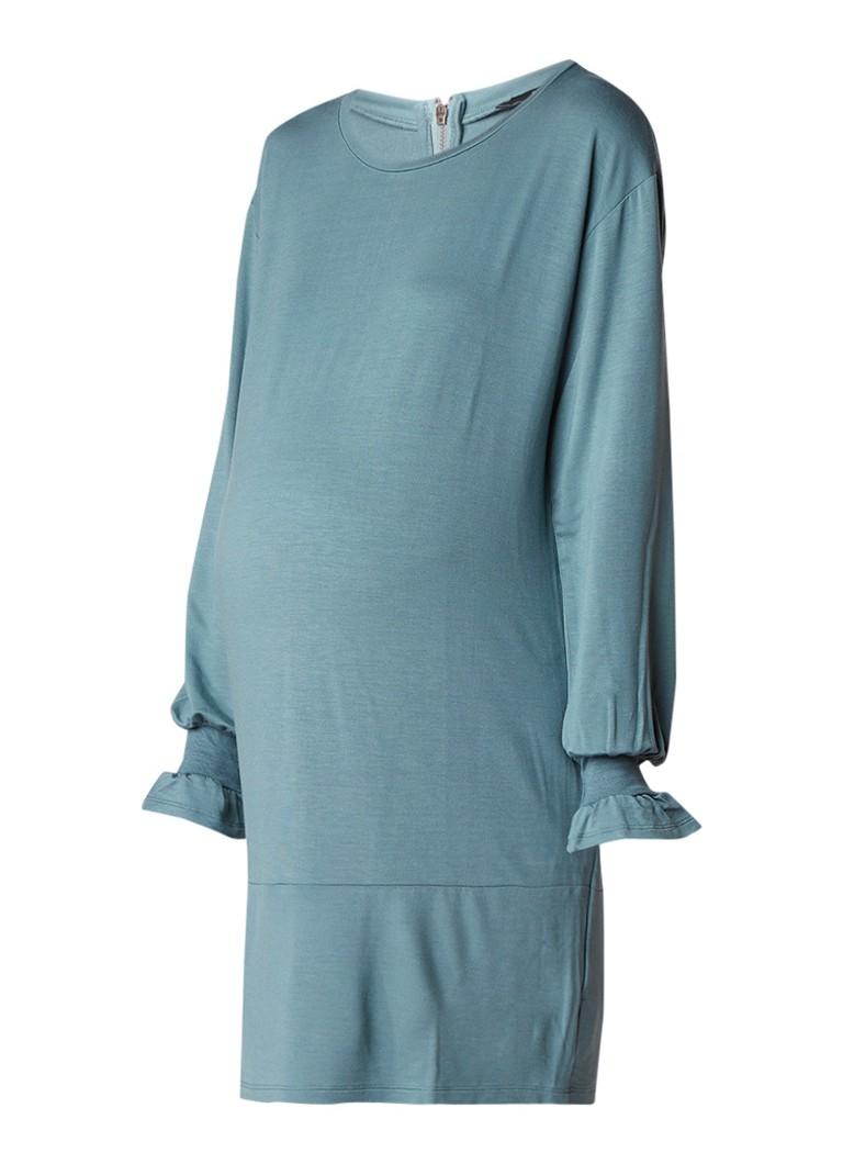 Noppies Zwangerschapsjurk van jersey met trompetmouw zeegroen