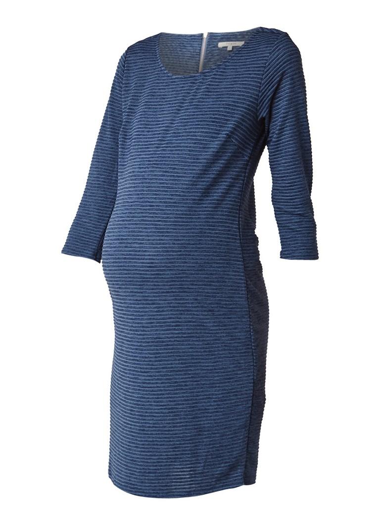 Noppies Zinnia midi-jurk met streepdessin en structuur turquoise