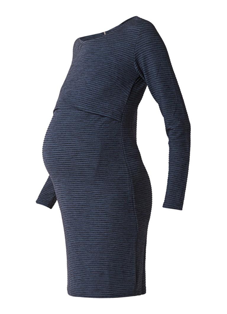 Noppies Mena voedingsjurk van jersey met overlay donkerblauw