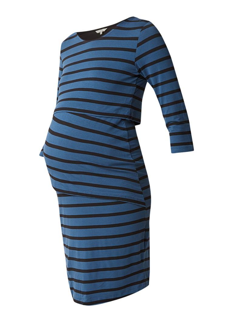 Noppies Maud zwangerschapsjurk met borstvoedingsfunctie blauw