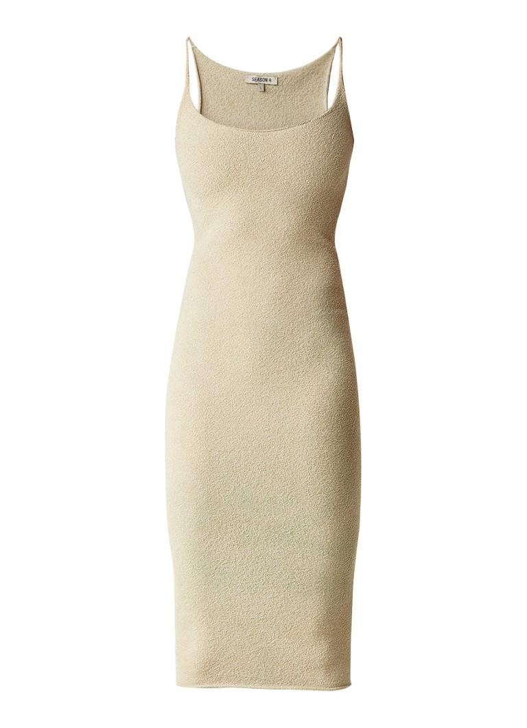 Yeezy Season 4 strakke jurk van bouclé