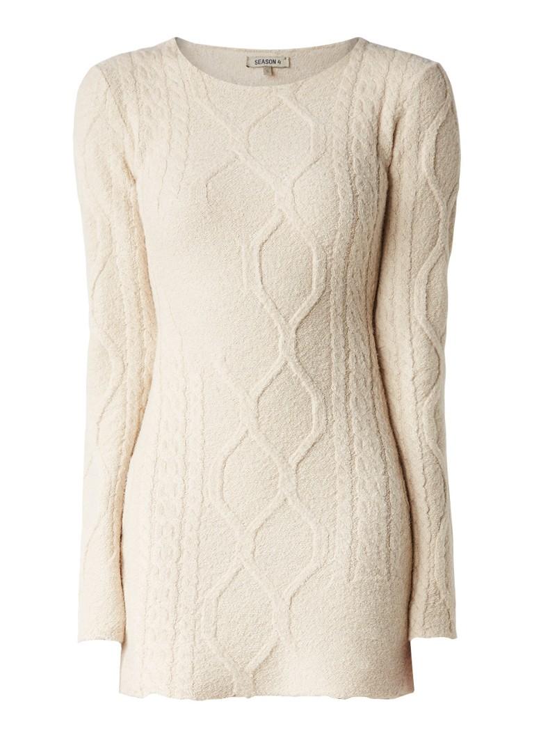 Yeezy Season 4 kabelgebreide jurk in wolblend