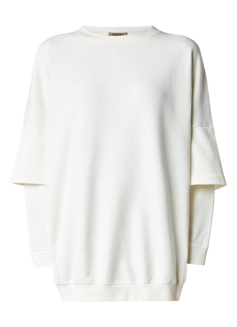 Yeezy Oversized sweater met dubbele mouw