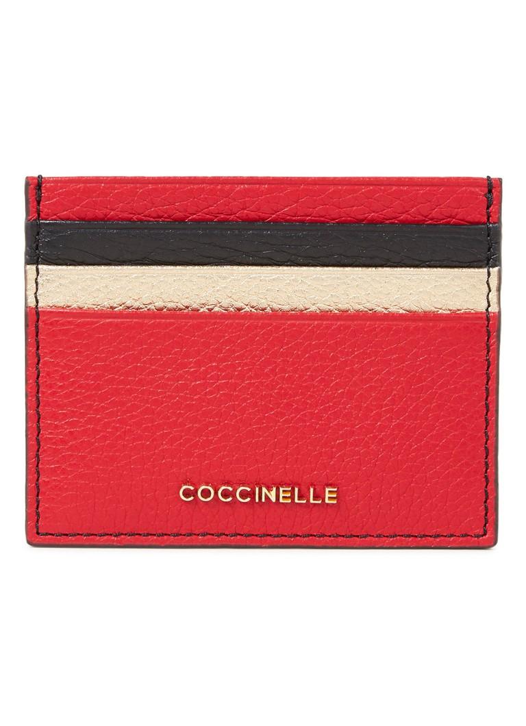 Coccinelle Creditcardetui van leer met logo