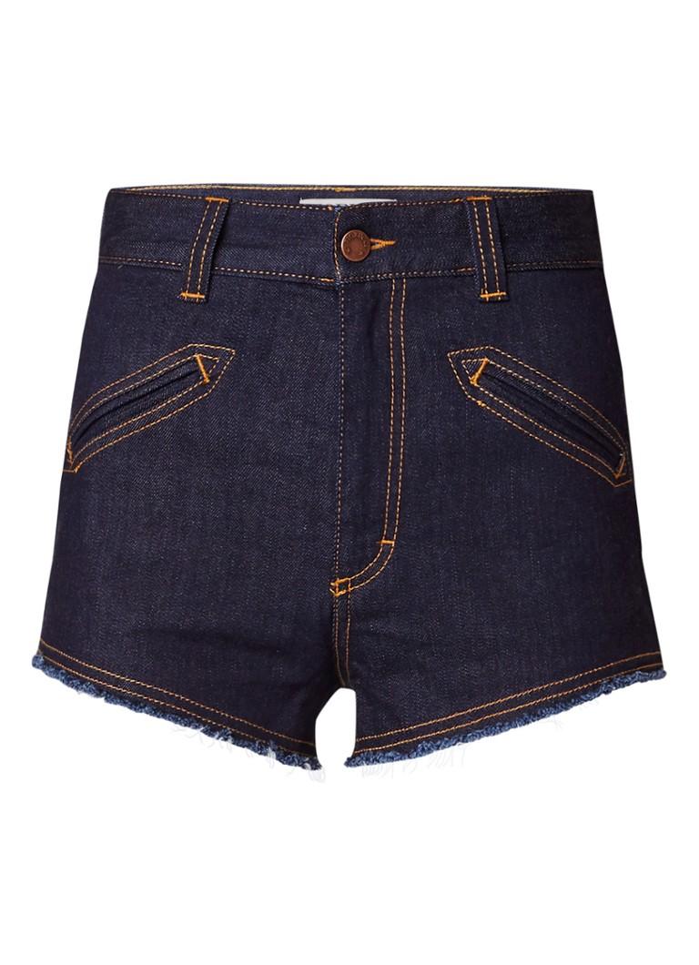 Fiorucci Edie high rise denim shorts met gerafelde zoom