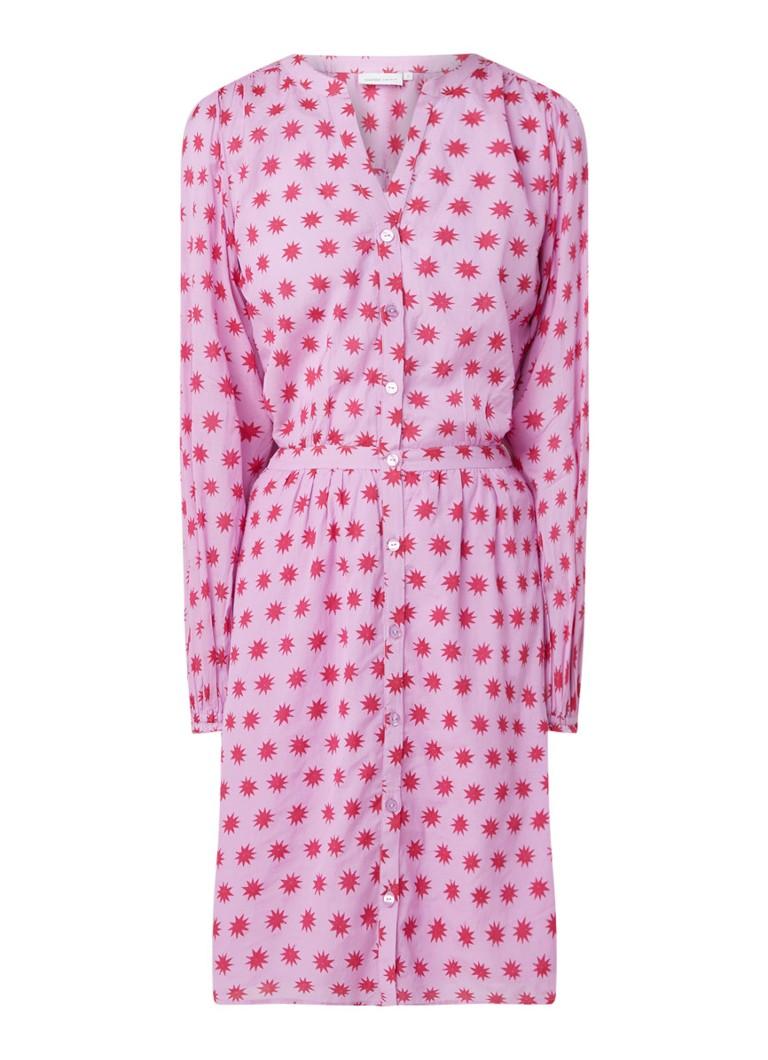Fabienne Chapot Noni blousejurk met sterrendessin roze