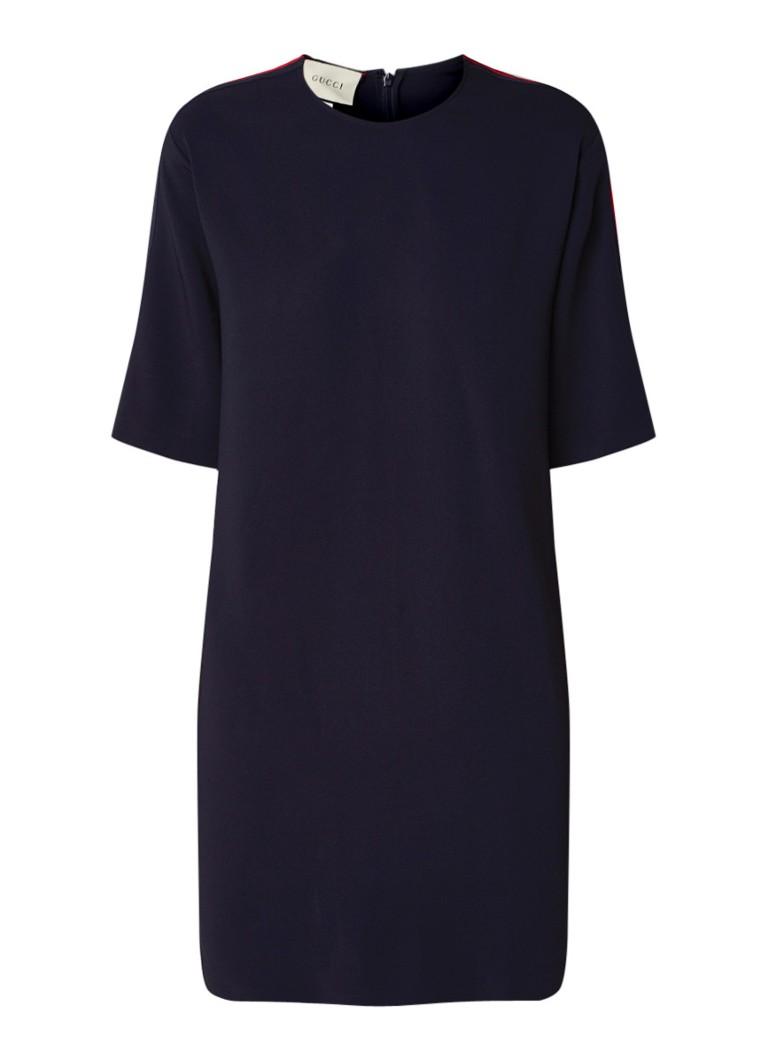 Gucci Cady loose fit mini-jurk met contrastbies