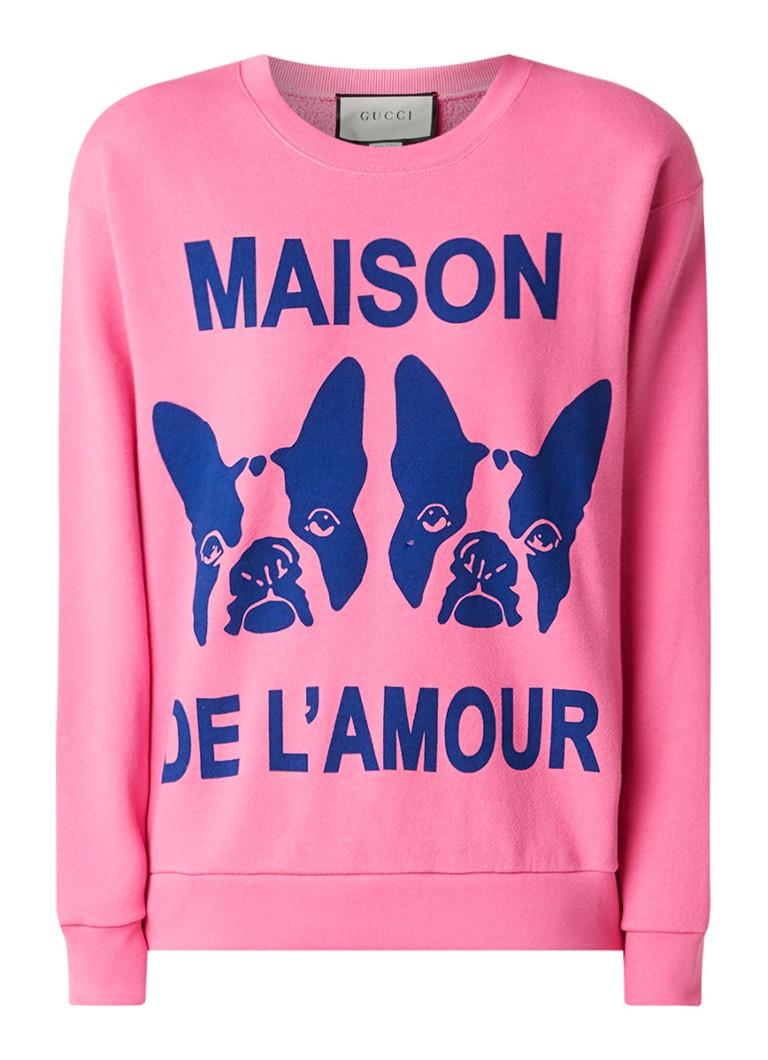 Gucci Bosco & Orso sweater met print en strass
