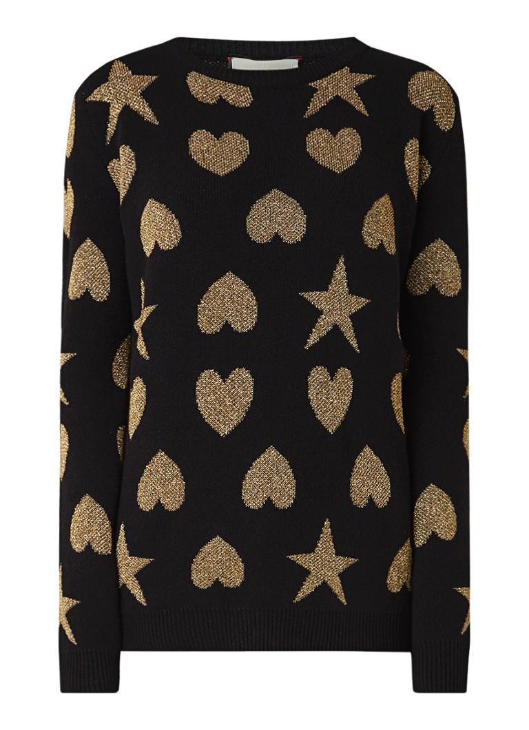 Gucci Fijngebreide pullover met dessin van lurex