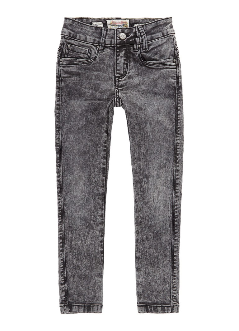 America Today Emily slim fit jeans met donkere wassing