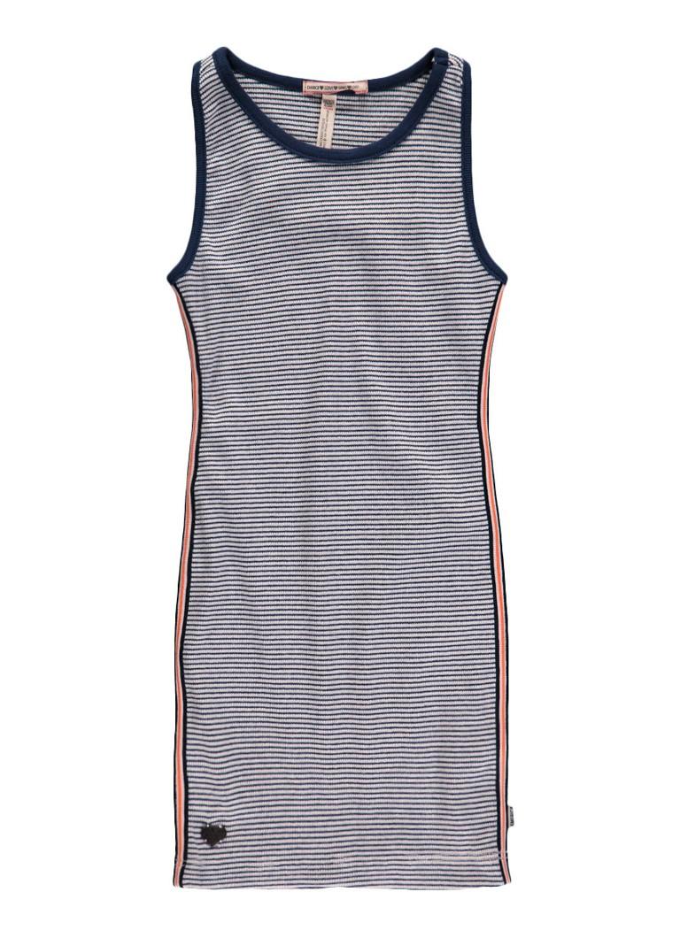 America Today Didi jersey jurk met streepdessin donkerblauw