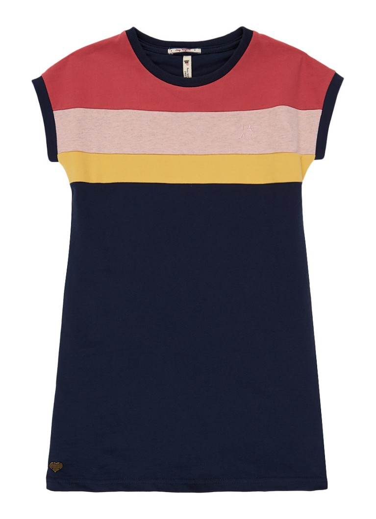 America Today Dena sweaterjurk met colour blocking