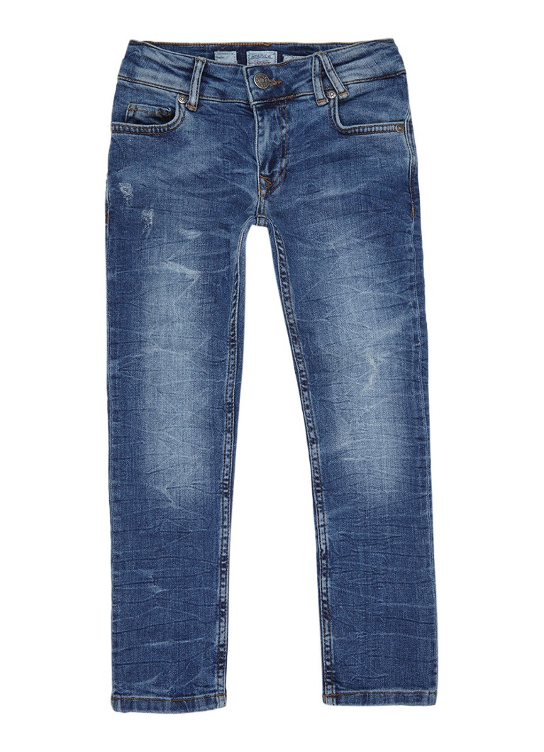 America Today Keanu Basic slim fit jeans met donkere wassing