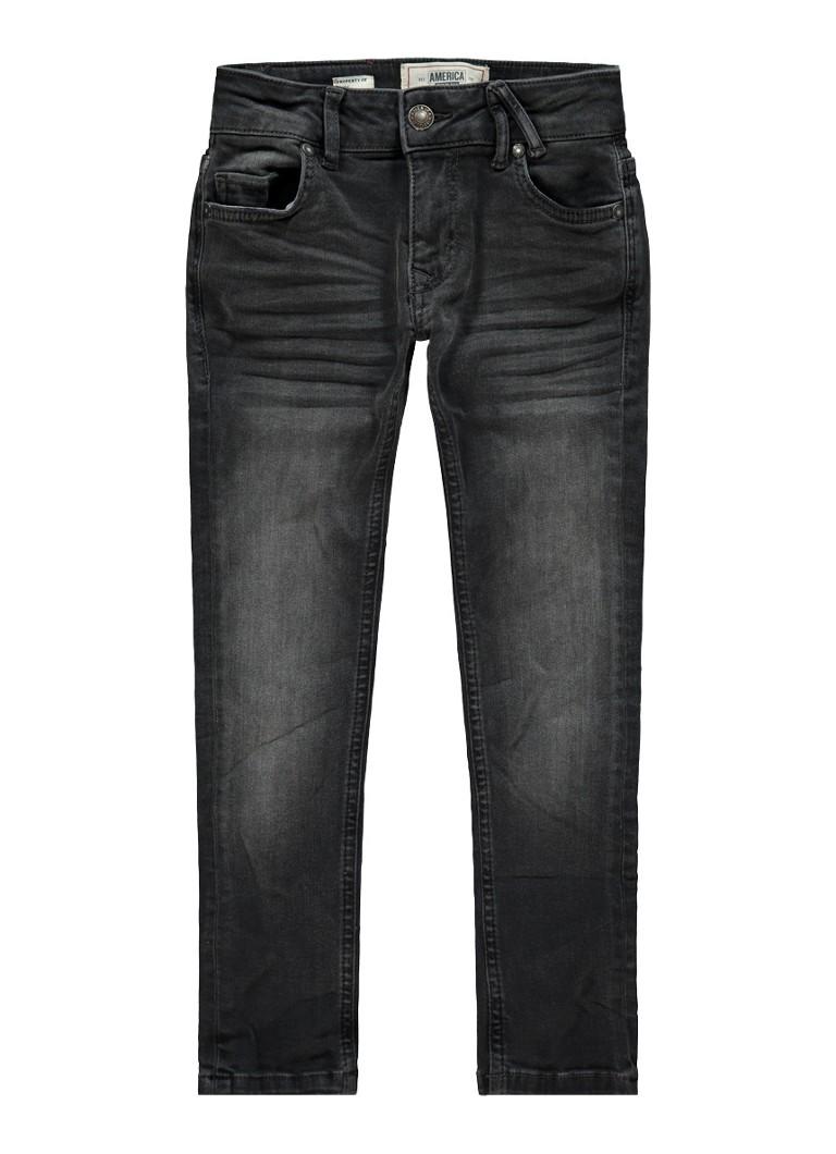 America Today Keanu Black slim fit jeans met donkere wassing