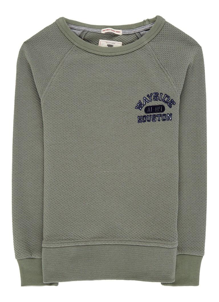 America Today Lennox sweater met textuur