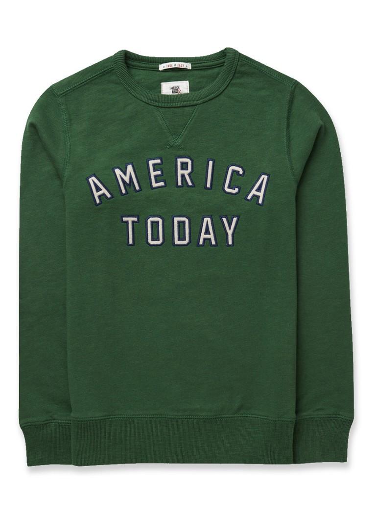 Image of America Today Story 2 sweater met merkapplicatie