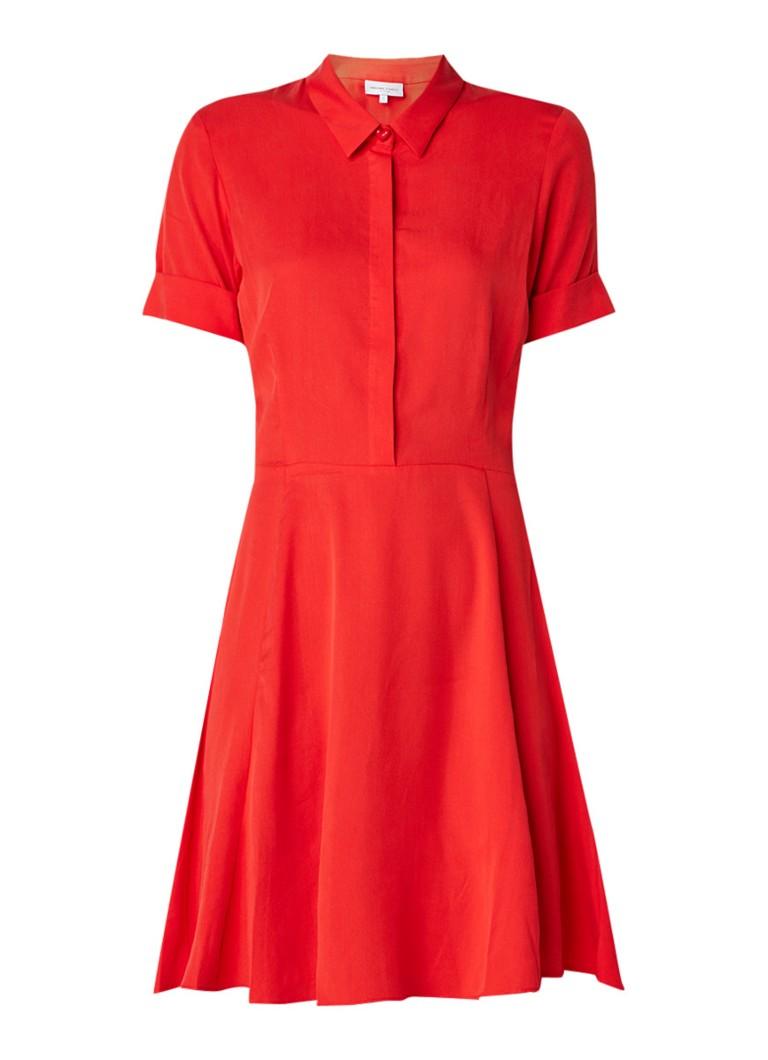 Fabienne Chapot Monica A-lijn jurk met halve knoopsluiting rood