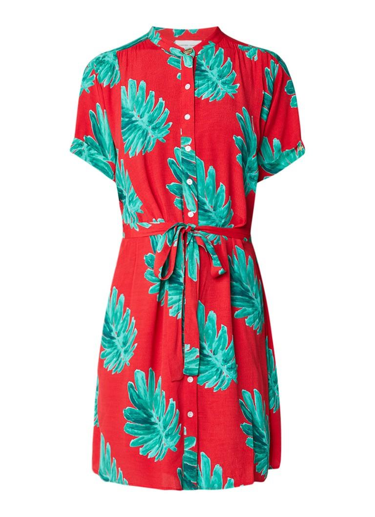 Fabienne Chapot Maggie oversized blousejurk met strikceintuur rood