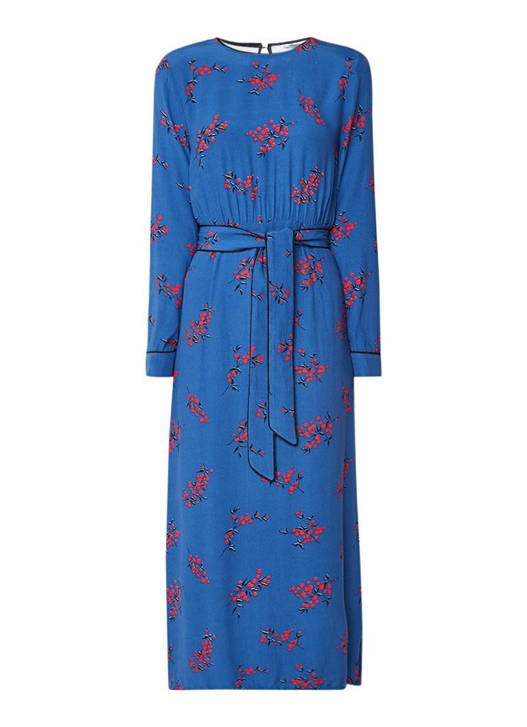 Fabienne Chapot Damaris A-lijn jurk met bloemendessin blauw
