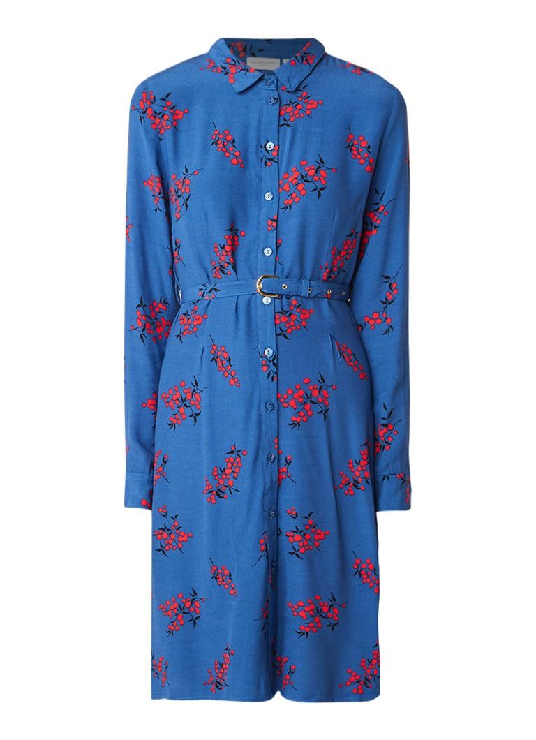 Fabienne Chapot Hayley blousejurk met bloemendessin en ceintuur blauw
