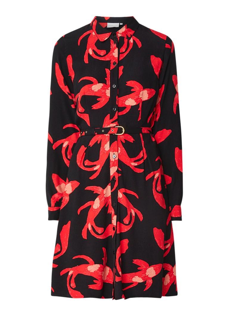 Fabienne Chapot Hayley blousejurk met bloemendessin zwart