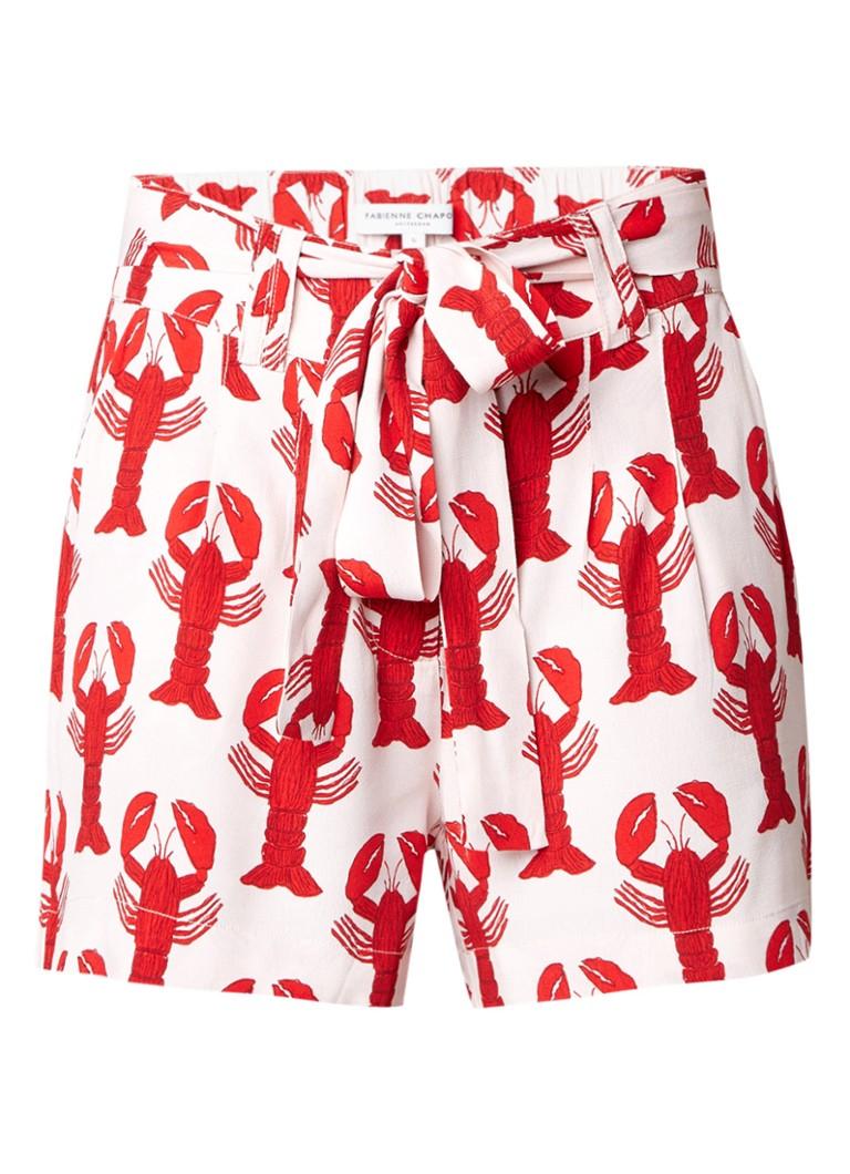 Fabienne Chapot Susan shorts met kreeftdessin en elastische band