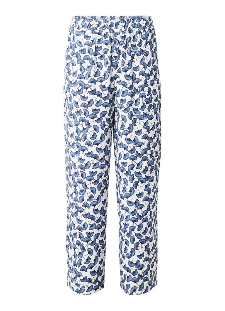 Storm & Marie Holly loose fit broek met gebloemd dessin blauw