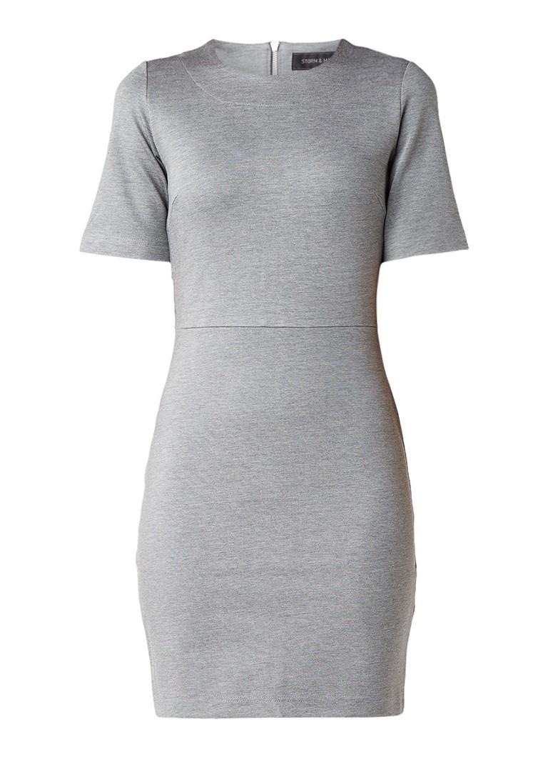 Storm & Marie Coconel nauwsluitende neopreen jurk grijsmele