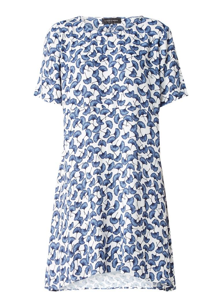 Storm & Marie Holly A-lijn jurk met gebloemd dessin blauw