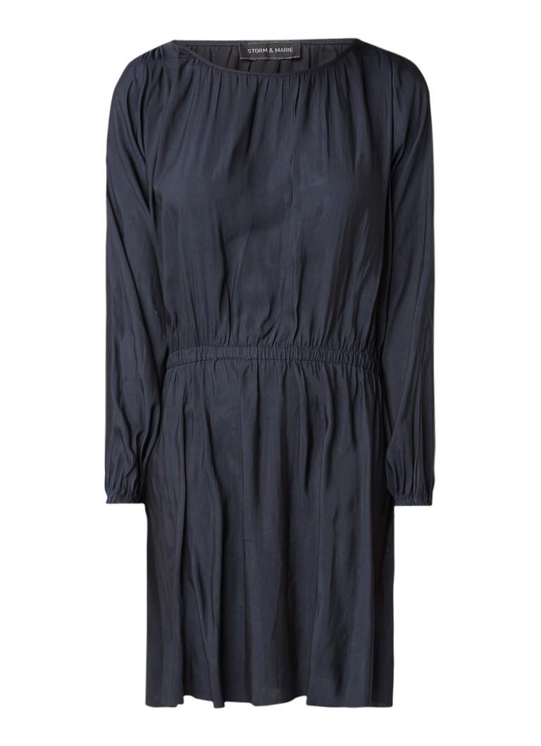 Storm & Marie Blu cold-shoulder jurk donkerblauw