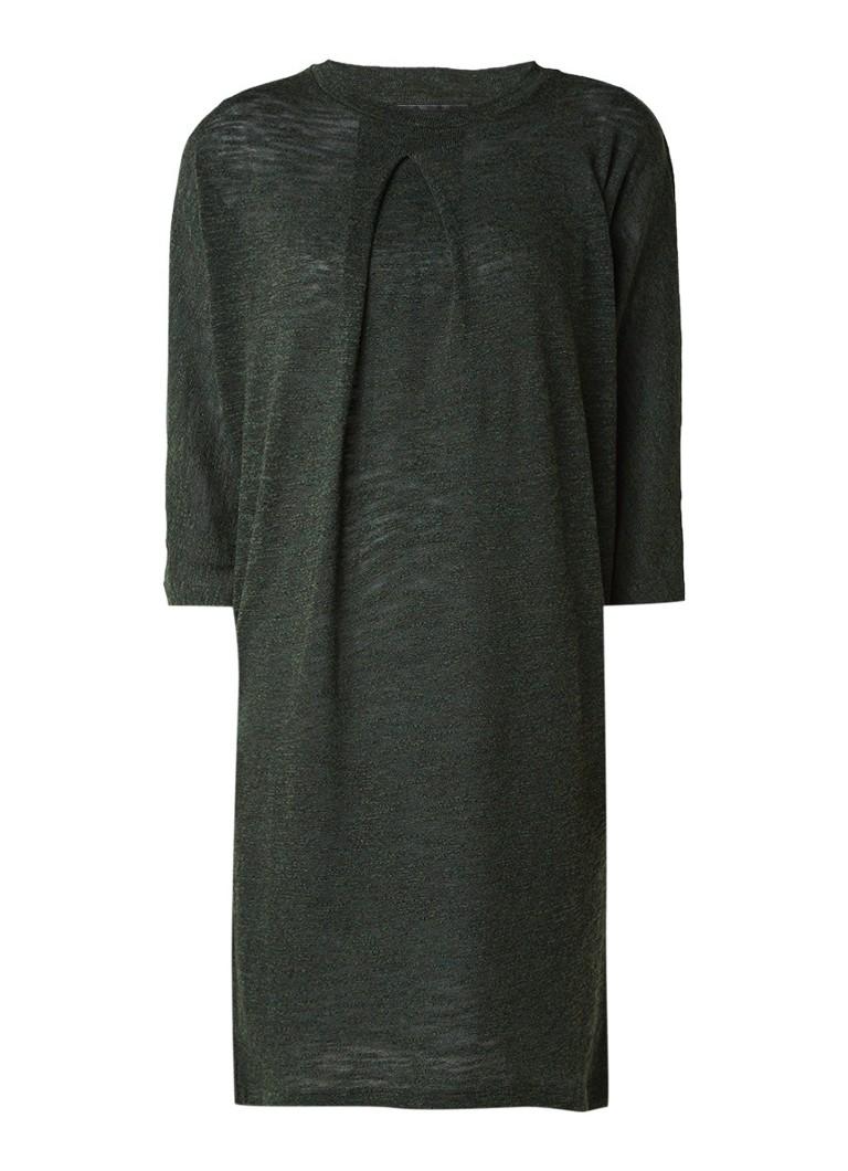 Storm & Marie Moss fijngebreide jurk in wolblend donkergroen