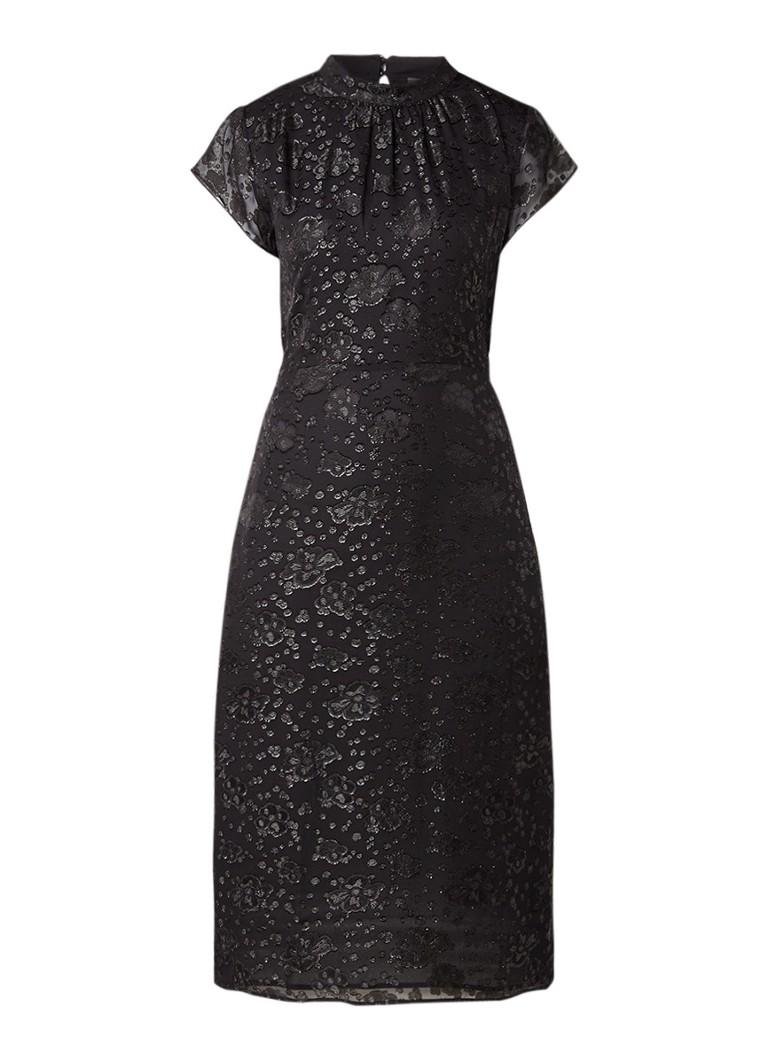 Storm & Marie Sense jurk met bloemendessin met glans detail zwart
