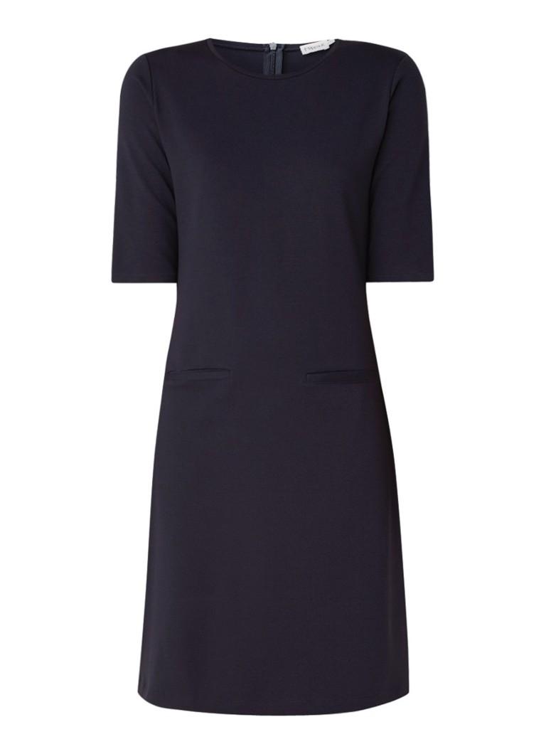 Filippa K Jersey jurk met steekzakken donkerblauw