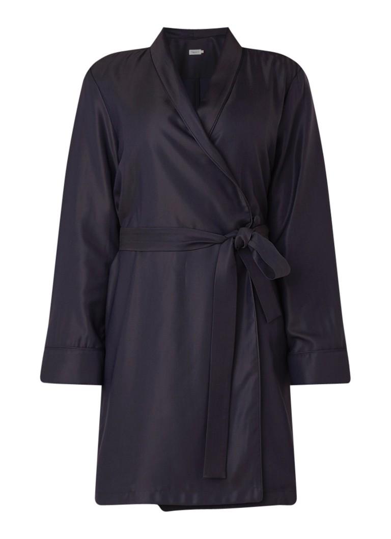 Filippa K Kimono blousejurk met strikceintuur donkerblauw
