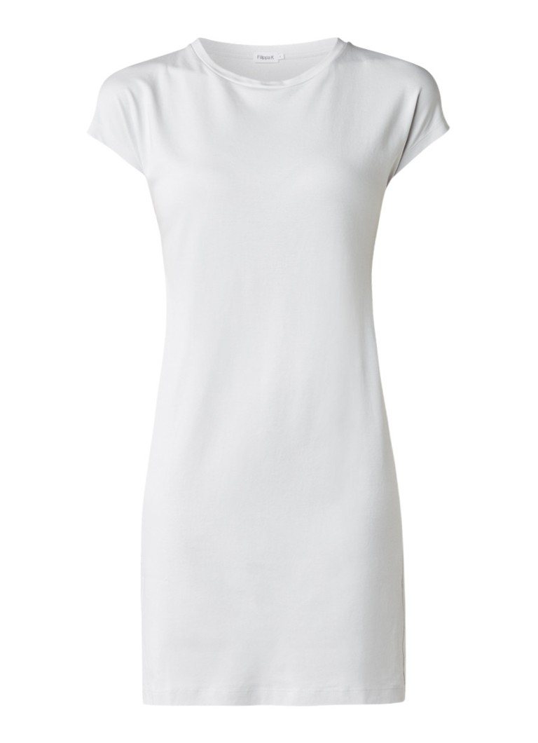 Filippa K Korte T-shirt jurk van katoen gebroken wit