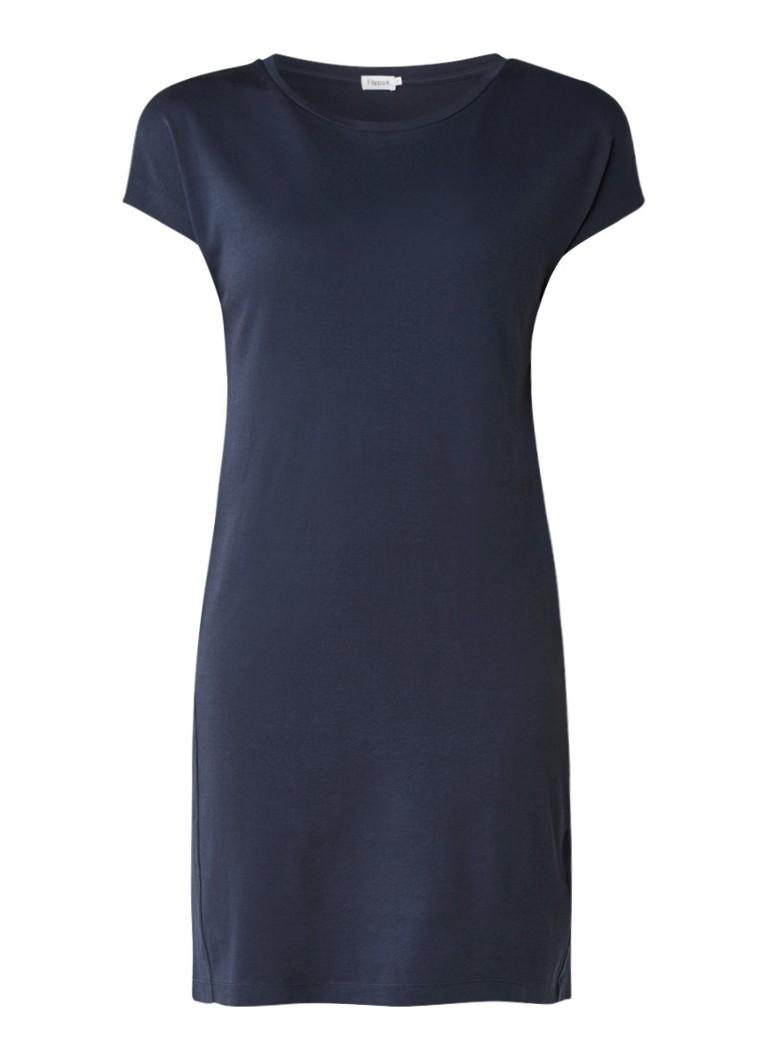 Filippa K Korte T-shirt jurk van katoen donkerblauw