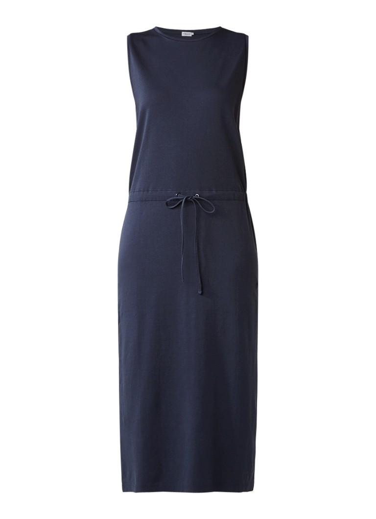 Filippa K Maxi-jurk van jersey met taillekoord donkerblauw
