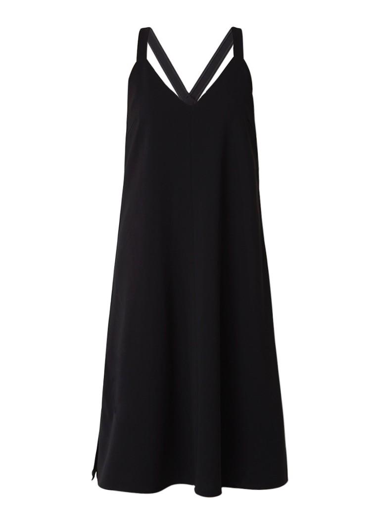 Filippa K Ami Slip midi-jurk met splits zwart