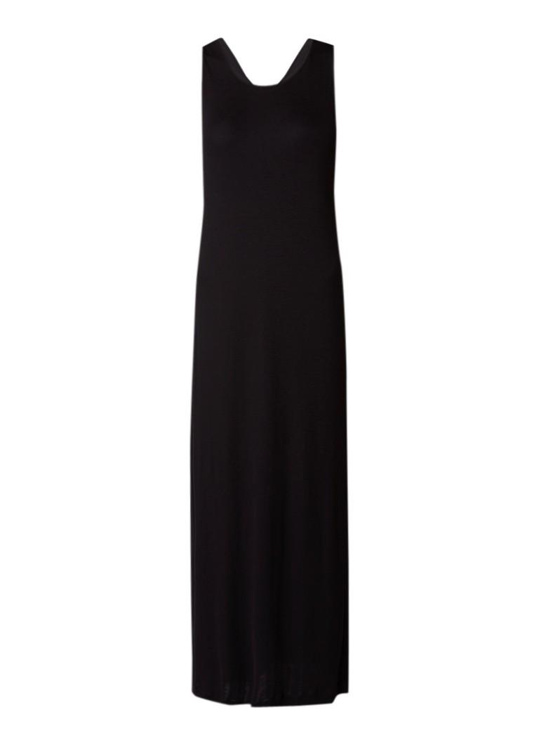 Filippa K Maxi-jurk van jersey met gedraaid detail zwart