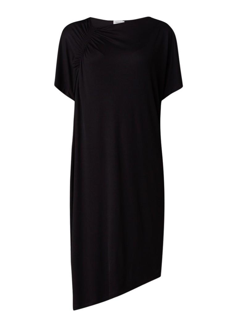 Filippa K T-shirt jurk met gesmockt detail zwart