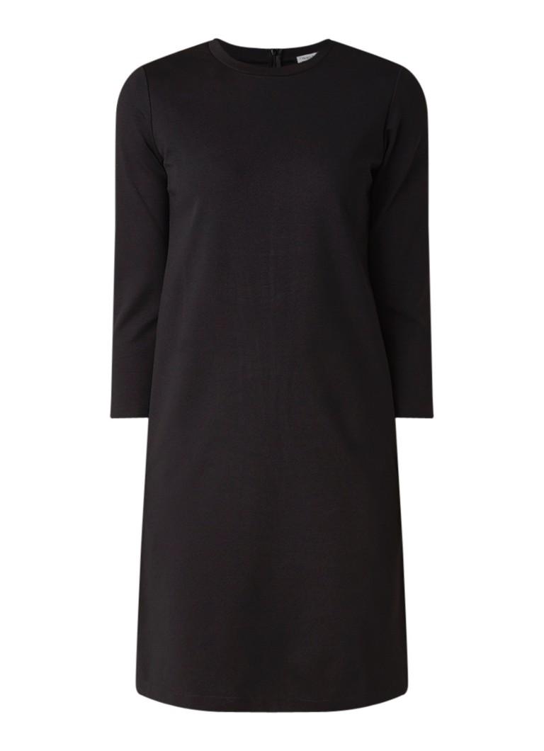 Filippa K Pocket tuniekjurk van jersey met driekwart mouw zwart