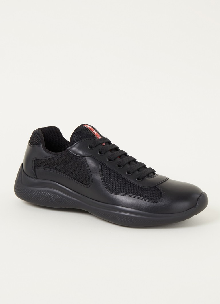 Prada New America's Cup sneaker met leren details