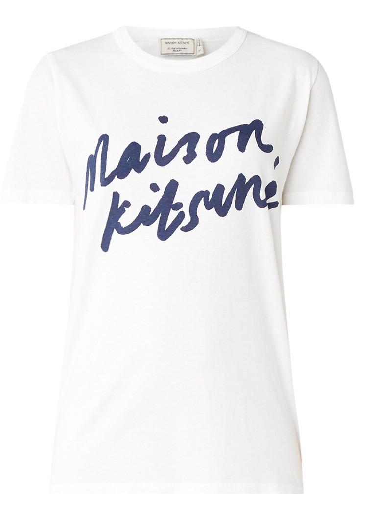 Maison Kitsuné T-shirt met logoprint
