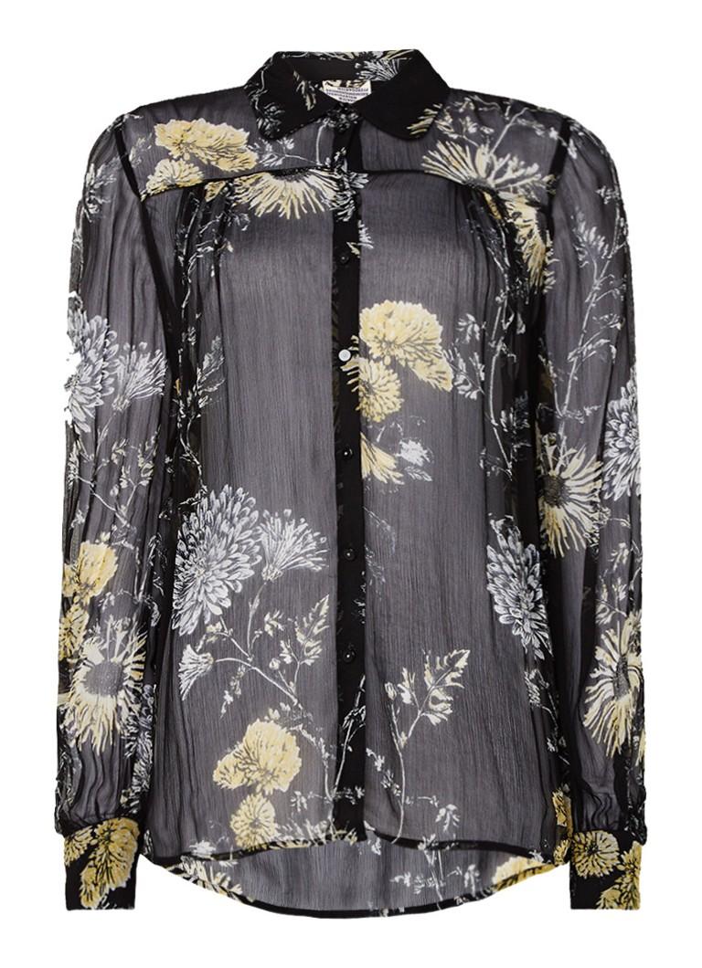 Baum und Pferdgarten Mandisa blouse met bloemenprint bruin