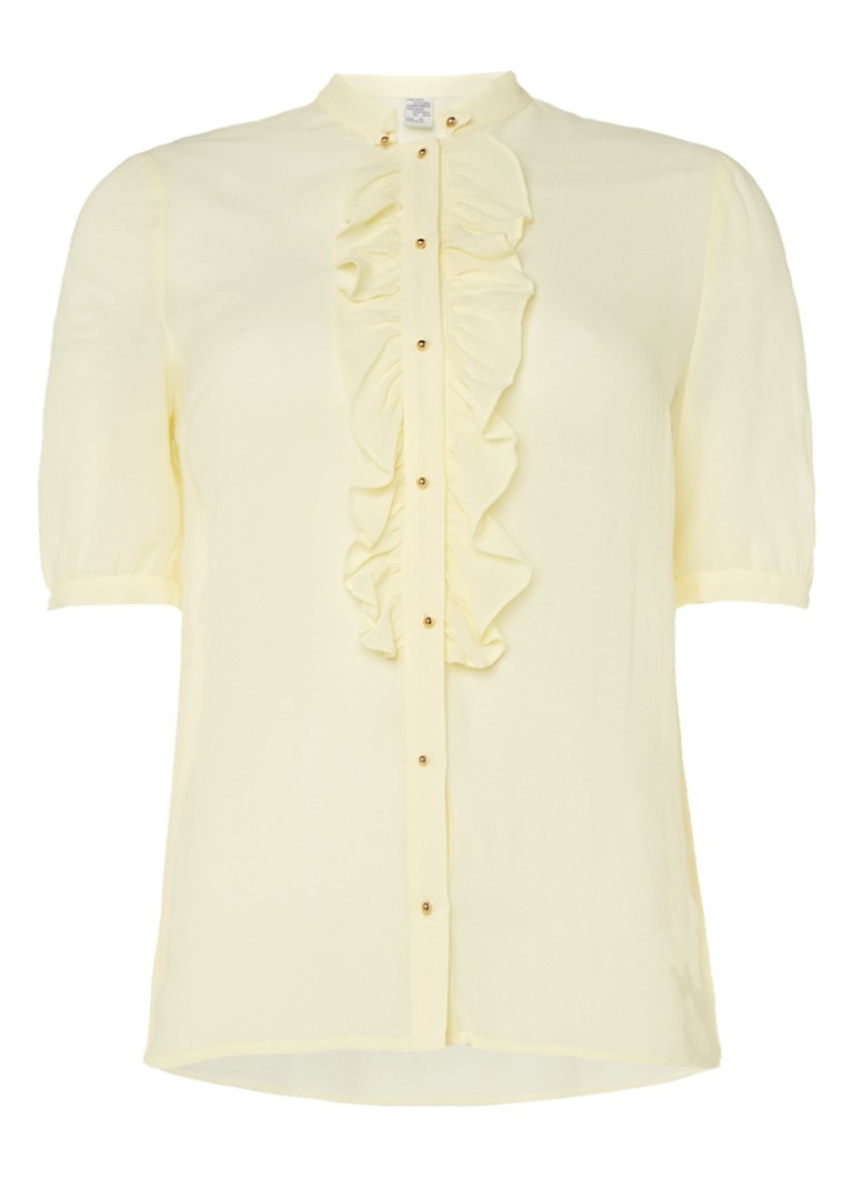 Baum und Pferdgarten Mavis getextureerde blouse met ruches bruin
